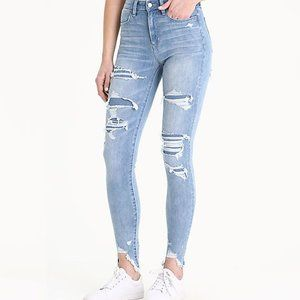 American Eagle Distressed/Fray High Waist Jegging